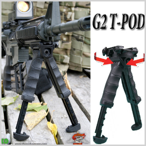 T-Pod G2 Tactical Pivoting Bipod 바이포드 수직그립 (BK,TAN)