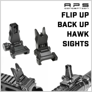 Flip Up Back Up Hawk Sights 옵션 사이트