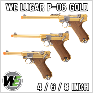 WE Luger P08 Gold